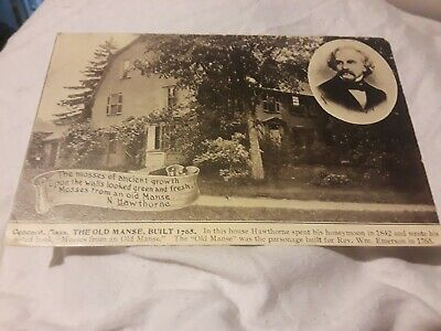 "Vintage ""The Old Manse"" Concord Massachusetts  Postcard  Lot(10-1)"