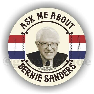 """Ask Me About Bernie Sanders For President 2020 Campaign 3"""" Pin Pinback Button"""