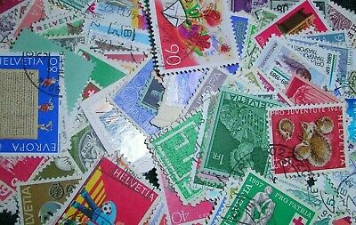 Switzerland Postage stamps over 100 mixed in gr cond
