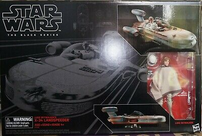 "Star Wars The Black Series  6"" Landspeeder Luke Skywalker Mint"