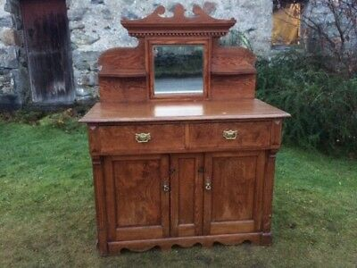 Victorian Pine Dresser / Kitchen Cupboard / Base Unit