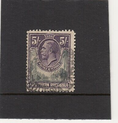 Northern Rhodesia 1925 Gv 5/= Sg14 Good Used Catalogued £19.00.