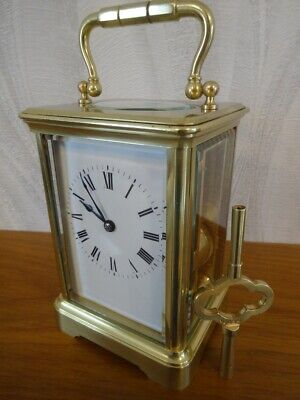 Super antique French Margaine striking carriage clock 1890/95 - restored 03/19