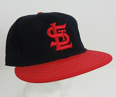 St Louis Cardinals Ball Cap Hat Blue Wool Red Bill Fitted 7.5 ANNCO Made in USA