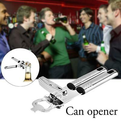 Universal Can Opener Heavy Duty Stainless Steel Bottle Opener with Hand Grip