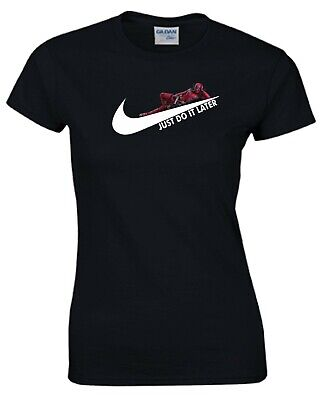 a97095b1 Just Do It Later T Shirt Funny Lazy Deadpool Nike Parody Gift Ladies Women  Top