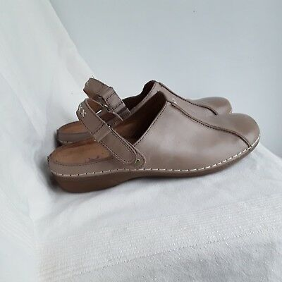 0bc15a7edd89 Ladies Brown Leather Upper Full Front Sandals Size 5 Wide Fit By K Of clarks