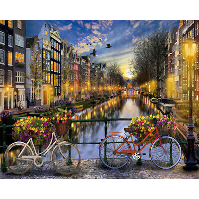 River City Night Canvas Paint By Numbers Kit Oil Painting Kit Easy Paint