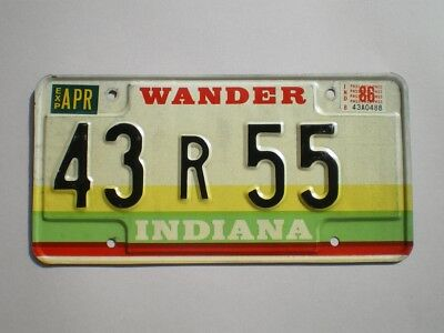 Authentic 1987 Indiana License Plate