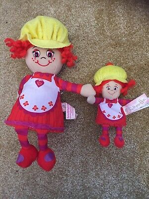 Dolls, Clothing & Accessories Little Miss Muffin Pop-n-flip Cupcake Dolls Set Of 2 Large And Small Red Yellow Dolls