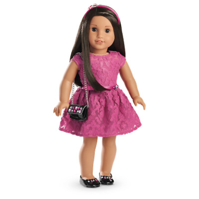 American Girl Doll Merry Magenta Party Dress with Purse NEW!! Holiday!
