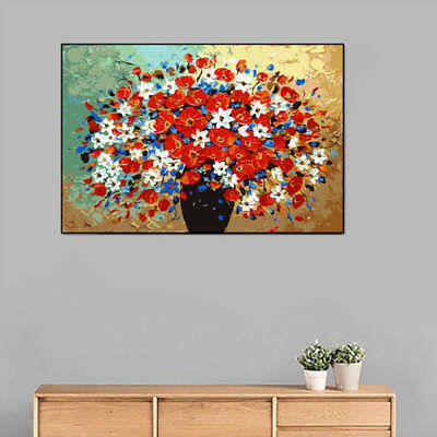 Non-woven Fabric Home Decor Abstract Wall Art Print Colorful Painting