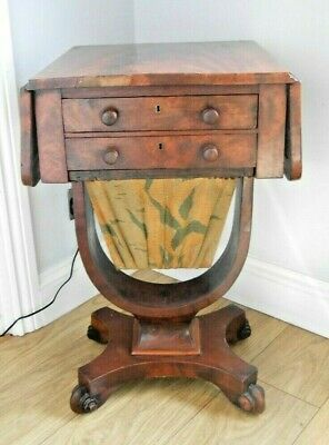 Victorian/Edwardian Vintage Sewing Table - superb