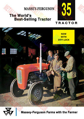 Massey Ferguson 35 Tractor Now with Diff Lock Poster (A3) - (3 for 2 offer)