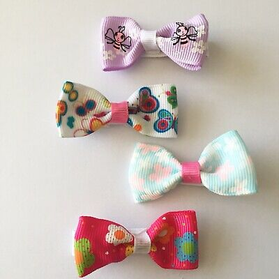 Clibella SALE/4 Packs Of Colourful hair bow Clips/hair Accesories/Everyday Use