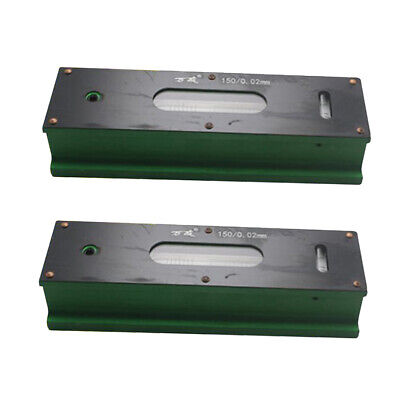 2x Heavy Duty Precision Bar Level Tool with Case 0.02mm Fine Finishing 150mm