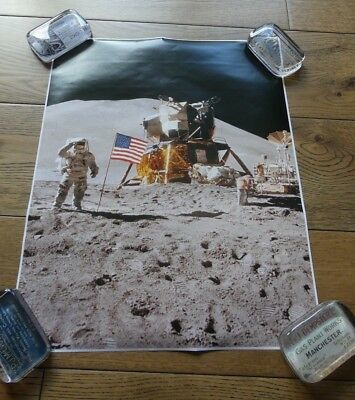 NASA Posters x 3 - Man on the Moon, Earth, Earth from the Moon, Astronomy Space