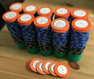 Custom Poker Chip Set- 10,000 Starting Chips for 10 Players