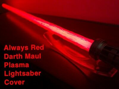 STAR WARS DARTH MAUL LIGHTSABER COVER, ALWAYS RED PLASMA EFFECT for Force FX