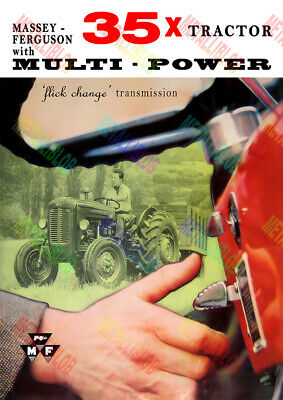Massey Ferguson 35x Tractor Multi Power Poster (A3) - (3 for 2 offer)