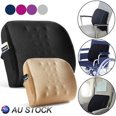 Memory Foam Lumbar Support Pillow Back Cushion Home Office Car Seat Pillows New