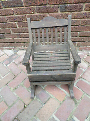 Early 20th Century Antique Childrens Rocking Chair Missions Arts & Crafts  ss