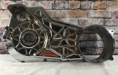 Harley Inner Primary Chrome EVO With Offset Wide Tire New! [18]