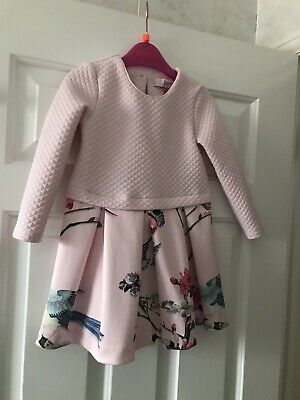 Ted Baker Baby Girl Pink Quilted Dress Drop Waist 18-24 Months
