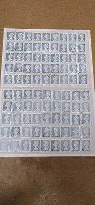 100 x 1st first class stamps unfranked off paper  collecting