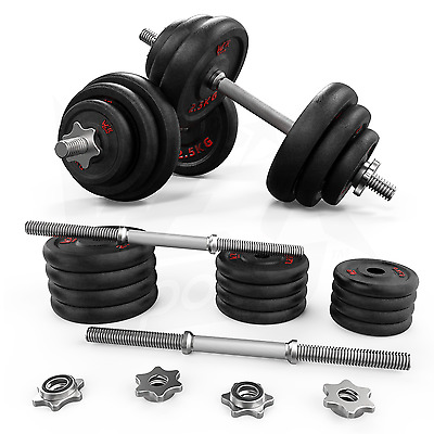 20kg Dumbbell Set Gym Cast Iron Free Weights Biceps Gym Workout Training Fitness