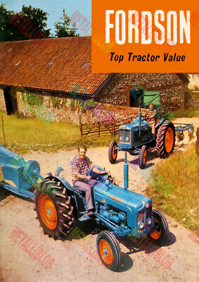 Fordson Top Tractor Value Advertising Poster (A3) - (3 for 2 offer)