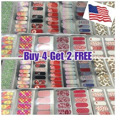 COLOR Nail Polish Strips Stickers BUY 3 GET 1 FREE