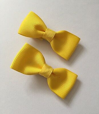 2 Packs Of Yellow Butter hair bow Clips/hair Accesories/School Uniform