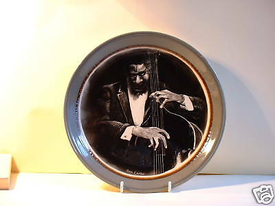 Jazz Musician Ron Carter, Double-bassist. Candle smoked plate. Vintage piece