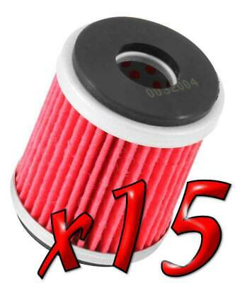 15 Pack: Oil Filters Pro Powersports Cartridge KN. - For MBK, Yamaha Scooter