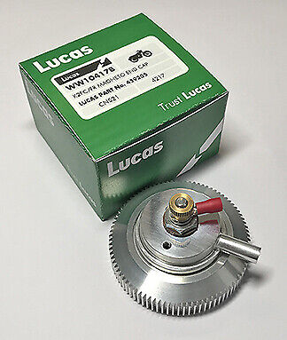 Magneto End Cap for Lucas K2FC/FR Magnetos Breather & Cut Out LU459205 NEW UK