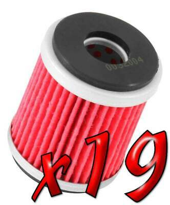 19 Pack: Oil Filters Pro Powersports Cartridge KN. - For MBK, Yamaha Scooter