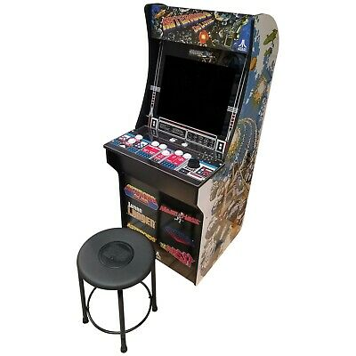 """Atari Arcade Stand Up Video Game 45"""" Tall Free Stool 2 Player Asteroids +5 More"""