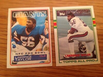 Vintage Lawrence Taylor USA NFL American Football TRADING CARDS