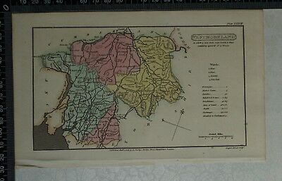 1808 Antique Original Hand Coloured Capper Map of Westmoreland