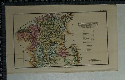 1808 Antique Original Hand Coloured Capper Map of Worcestershire