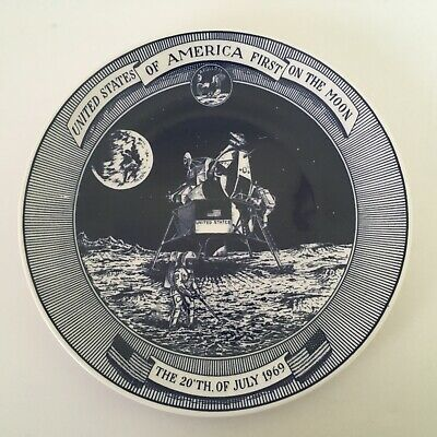 Lund & Clausen Denmark Plate - Apollo 11 - USA First on the Moon 20th July 1969