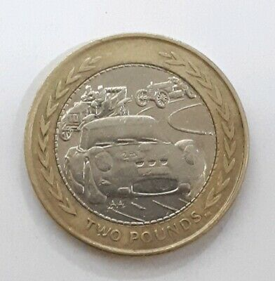 1998 Isle Of Man - Vintage Car Rally £2 Coin