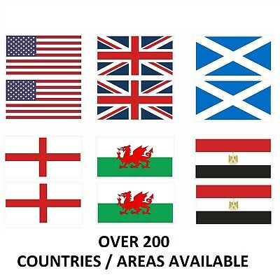 PAIR OF Flags of The World, Sticker / Decals, Any Country / Area, 100mm x 50mm
