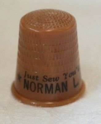 Vintage Celluloid Political Thimble Norman L. Alcorn For Sheriff Harrah, OK