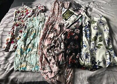 Women's Ladies Clothing Bundle Summer Size 10-12 Dresses Play suit ASOS Floral