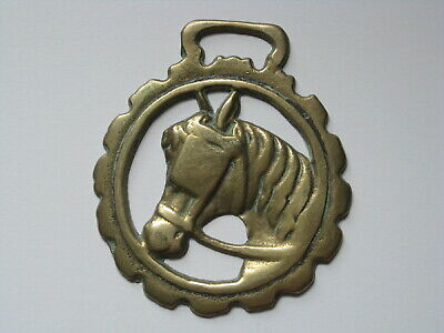 vintage brass medallion horse saddle bridle ornament harness equestrian decor A