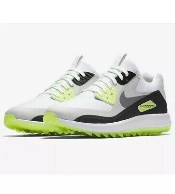8d56cd9eac52d New Nike Air Zoom 90 IT Golf Shoes White Grey Green Rory 844569-102 Mens