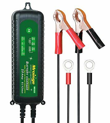 Mroinge Mbc020 12V/6V 2A Fully Automatic Trickle Battery Charger Maintainer For