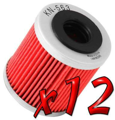 12 Pack: Oil Filters Pro Powersports Cartridge KN. - For Derbi, Piaggio Scooter
